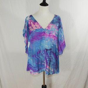 NWT Rachel Rachel Roy Top Size 0X Flutter Sleeve